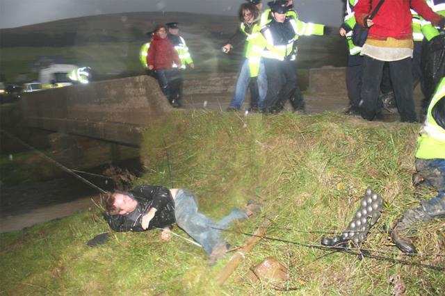 Garda violence at Lennon's Quarry