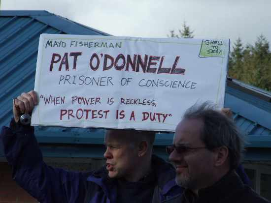 Protest for Pat O'Donnell at Castlerea